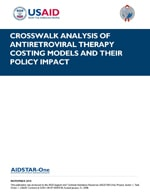 Crosswalk Analysis of ART Costing Models and Their Policy Impact