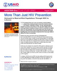 More Than Just HIV Prevention: Outreach to Most-at-Risk Populations Through SIDC in Lebanon