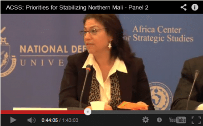 """""""Priorities for Stabilizing Mali"""" Roundtable Discussions now Available Online"""