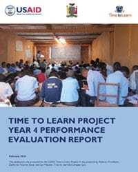 Time to Learn Project Year 4 Performance Evaluation Report