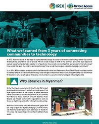 Evaluation of Beyond Access Libraries Program in Myanmar