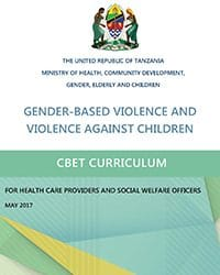 GBV and VAC CBET Curriculum for Health Care Providers and Social Welfare Workers