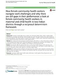 Female Community Health Workers in Maternal and Child Health