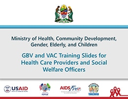 Intro to GBV and VAC – Training Slides for Health Care Providers and Social Welfare Officers