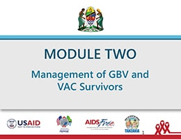 Management of GBV and VAC Survivors – Training Slides for Health Care Providers and Social Welfare Officers