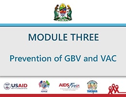 Prevention of GBV and VAC – Training Slides for Health Care Providers and Social Welfare Officers