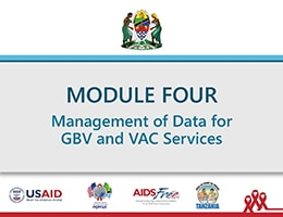 Management of Data for GBV and VAC Services – Training Slides for Health Care Providers and Social Welfare Officers