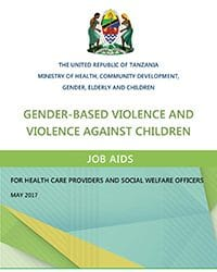 GBV and VAC Job Aids for Health Care Providers and Social Welfare Officers