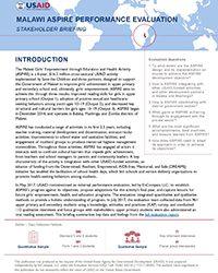 ASPIRE in Malawi: Stakeholder Briefing