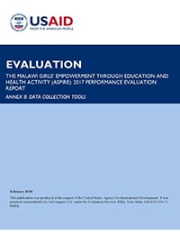 ASPIRE Performance Evaluation, Annex 8: Evaluation Tools