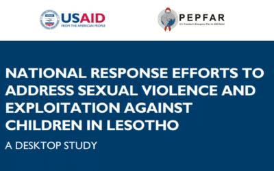 Lesotho Response Efforts to Address Sexual Violence and Exploitation Against Children: Desktop Study
