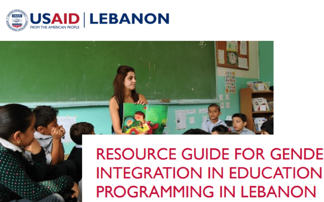 Resource Guide for Gender Integration in Education Programming in Lebanon