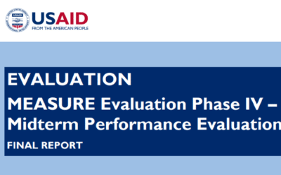 MEASURE Evaluation Phase IV – Midterm Performance Evaluation