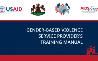 AIDSFree Lesotho Gender-Based Violence Service Provider's Manual