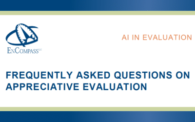 Frequently Asked Questions on Appreciative Evaluation