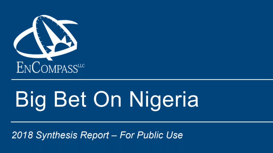 On Nigeria: 2018 Synthesis Report