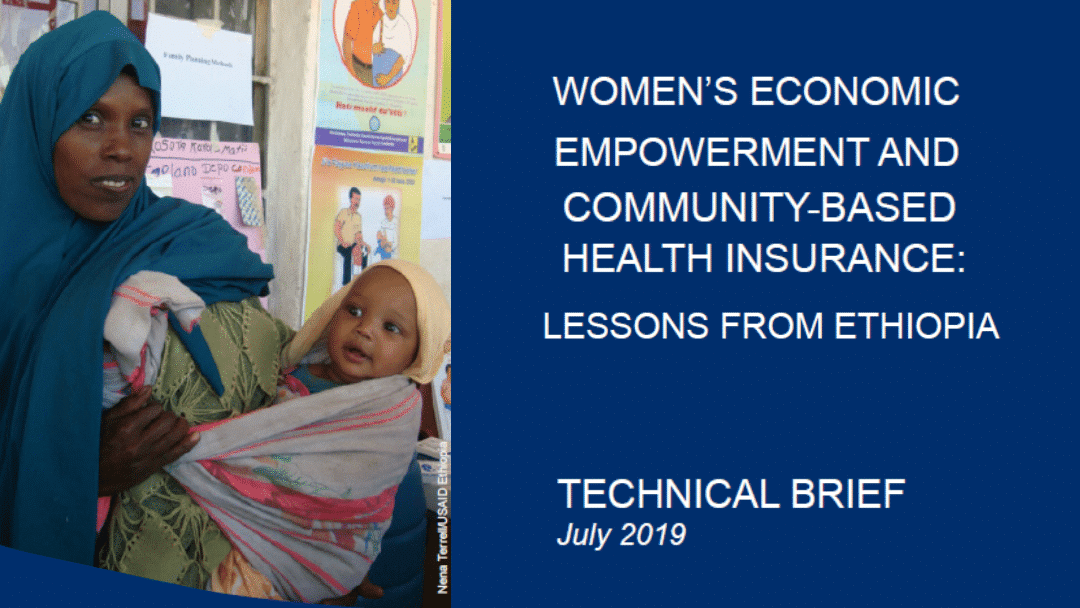 Women's Economic Empowerment and Community-Based Health Insurance: Lessons from Ethiopia