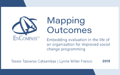 Mapping Outcomes: Embedding evaluation in the life of an organization