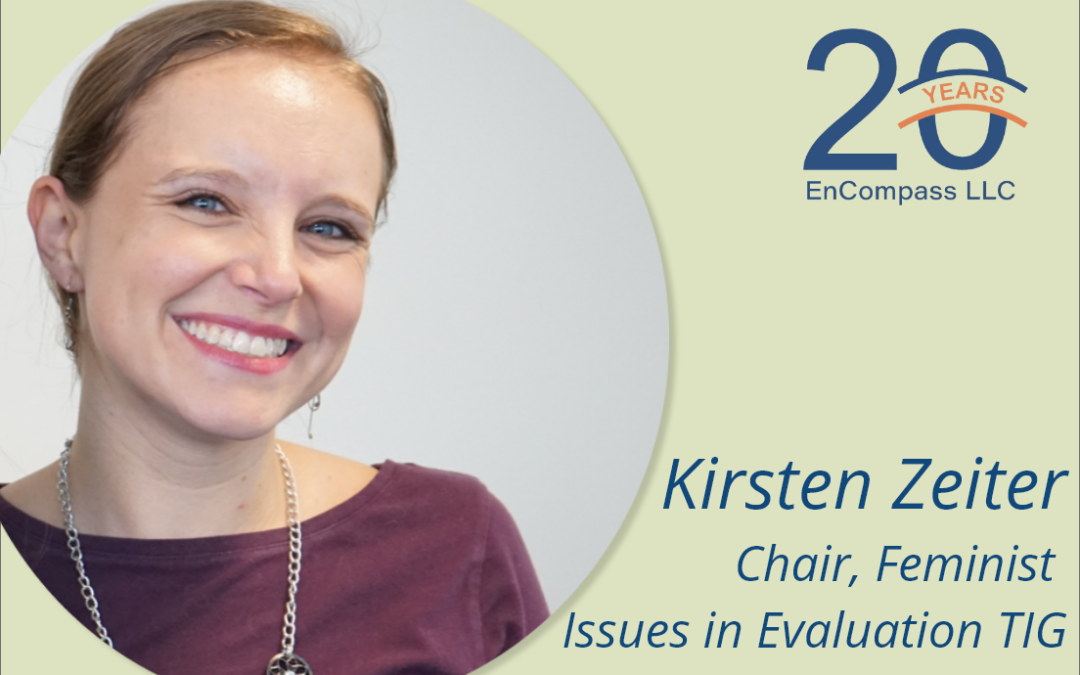 Kirsten Zeiter to Chair AEA's Feminist Issues in Evaluation Topical Interest Group