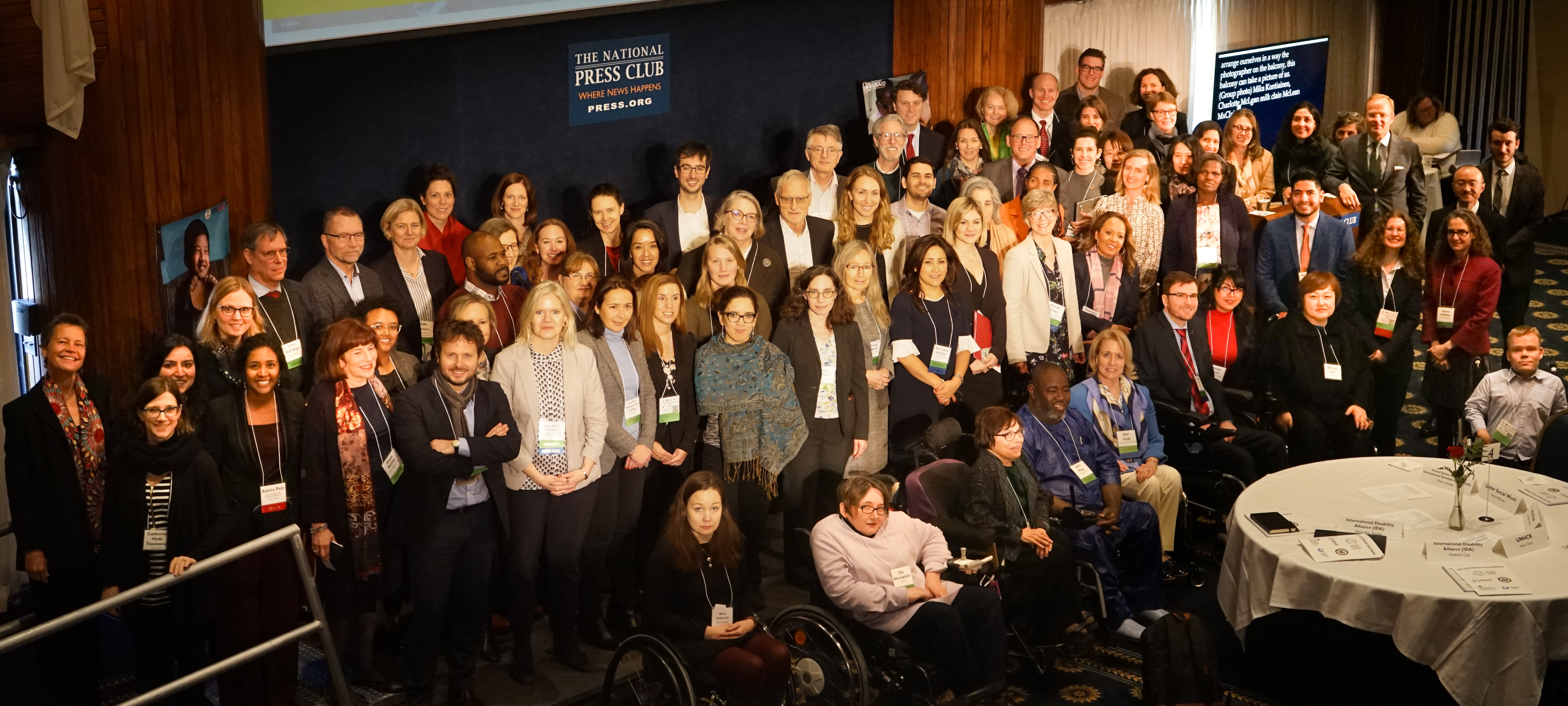 Group photo at the GLAD network event in February 2020