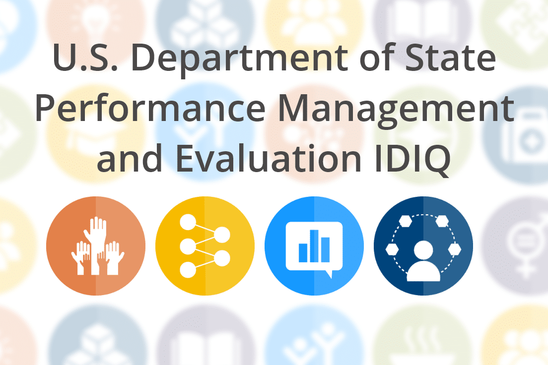 U.S. Department of State, Performance Management and Evaluation Services IDIQ