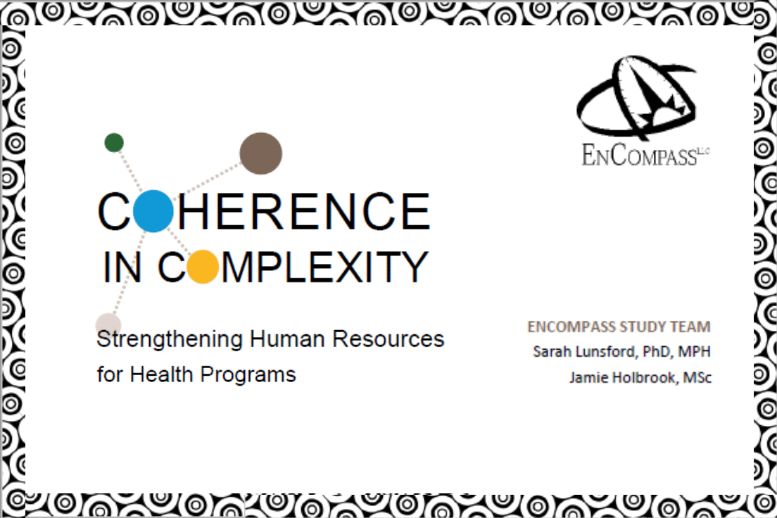 "Today's Health Workforce Requires ""Coherence in Complexity"": New Resource"
