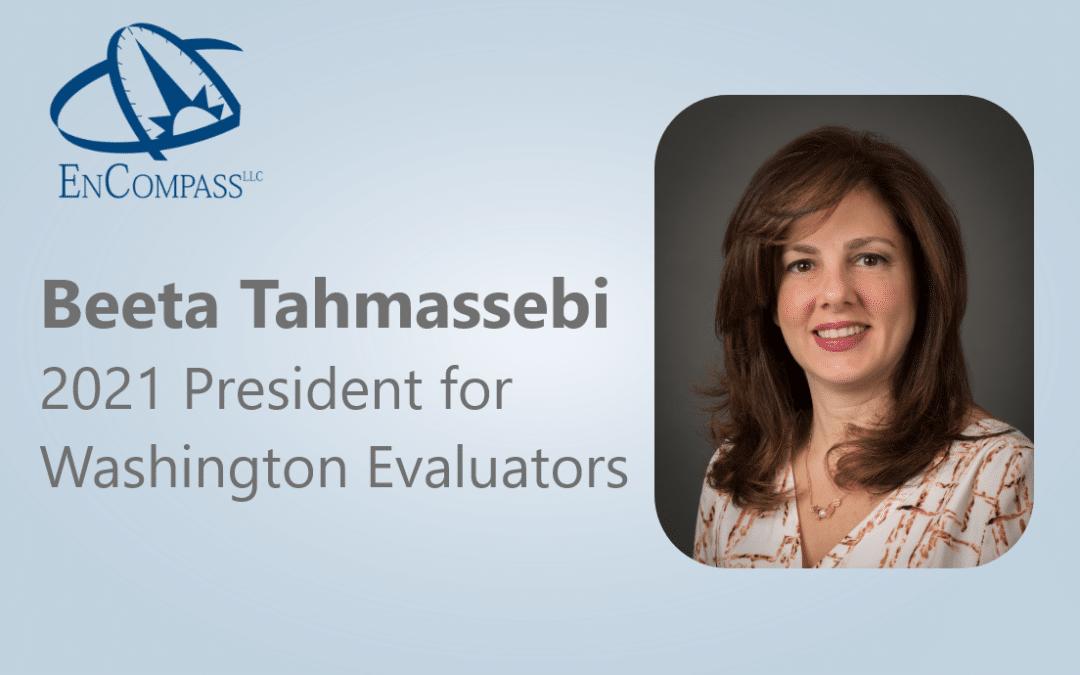 Beeta Tahmassebi Steps into the Role of President for Washington Evaluators