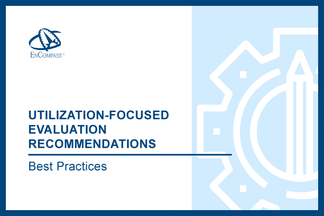 New Resource: What Do Useful Evaluation Recommendations Look Like?