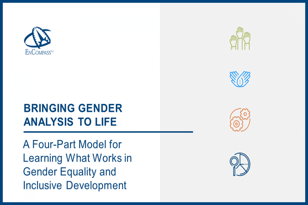 Bringing Gender Analysis to Life: A Four-Part Model for Learning What Works in Gender Equality and Inclusive Development